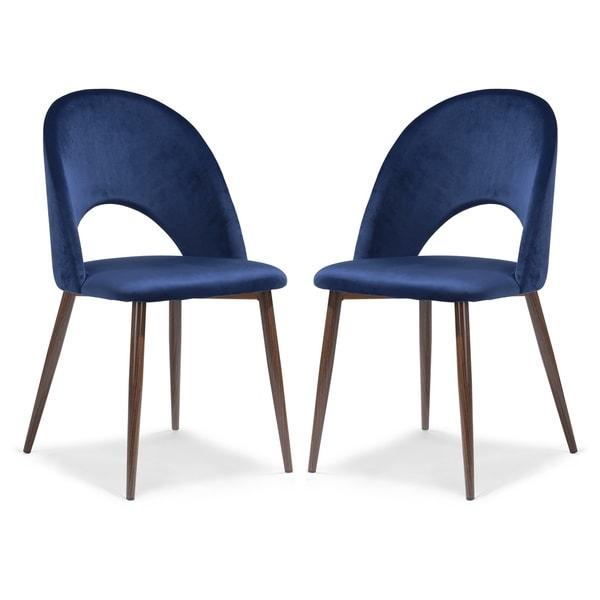 EdgeMod Curva Velvet Dining Chair (Set of 2). Opens flyout.