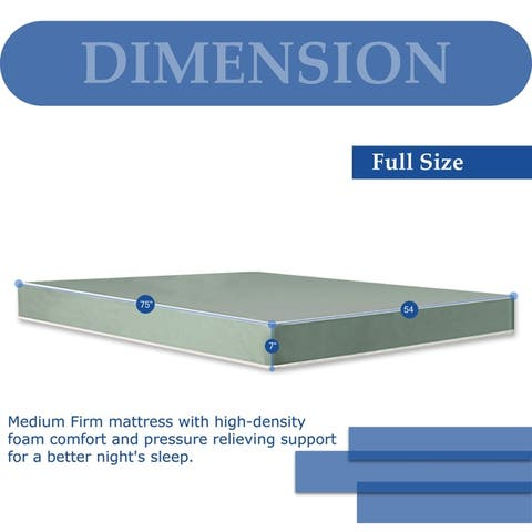 Onetan, Medium Firm Double sided Tight top Foam Rolled Vinyl Mattress, Good For The Back.