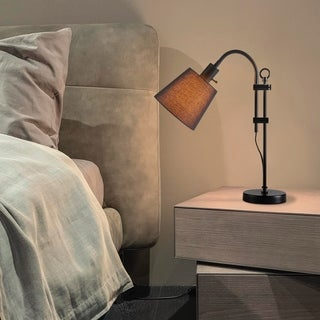 Link to CO-Z Adjustable Table Lamp with Black Fabric Shade Similar Items in Table Lamps