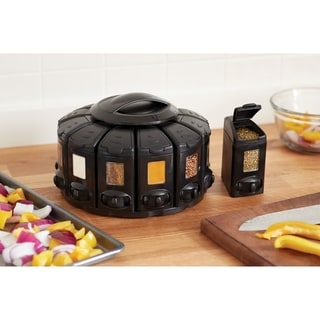 Link to KitchenArt 25004 Select-A-Spice Auto-Measure ProCarousel, Black Similar Items in Kitchen Storage