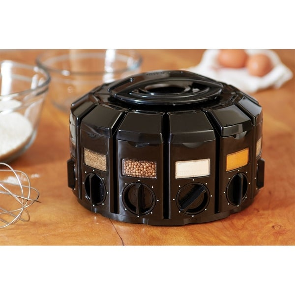 KitchenArt 25003 Select-A-Spice Auto-Measure Carousel, Black. Opens flyout.