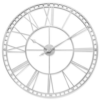 Link to The Tower XXL Large Open Face Metal Wall Clock 39 inch - Antique Silver Similar Items in Decorative Accessories