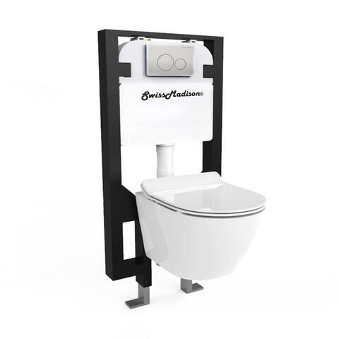 Swiss Madison SM-WK449 St. Tropez Wall Hung Toilet Bundle