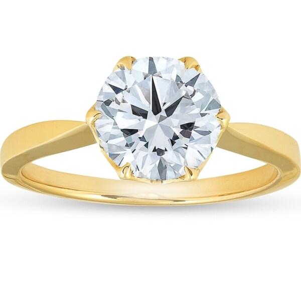 Shop 1 1/2 Ct Solitaire Diamond Micro Prong Engagement