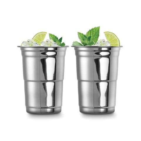 Outset 76473 Stainless Steel 16 oz Party Cups, Set of 2
