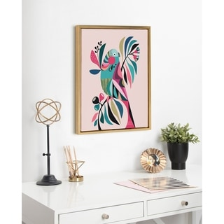 Link to Kate and Laurel Sylvie Parakeet Framed Canvas by Rachel Lee Similar Items in Canvas Art