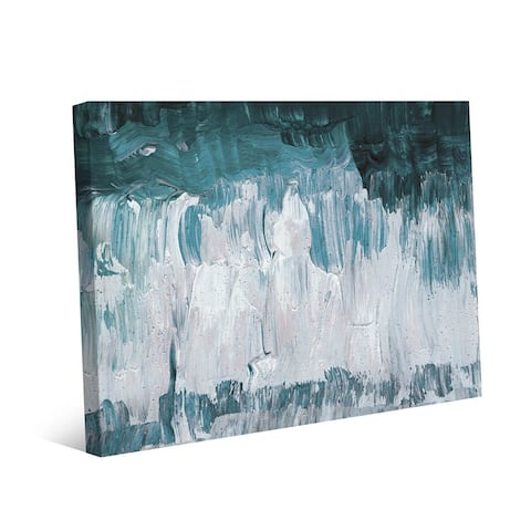 Kathy Ireland Kodoro in Teal Abstract on Gallery Wrapped Canvas Wall Art Print
