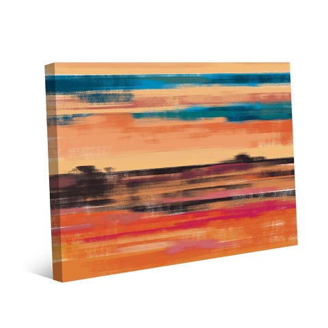 Kathy Ireland Vermillion Mirage Southwestern Abstract on Gallery Wrapped Canvas Wall Art Print