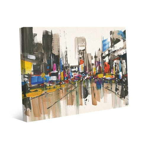 Kathy Ireland Manhattan New York Watercolor on Gallery Wrapped Canvas Wall Art Print