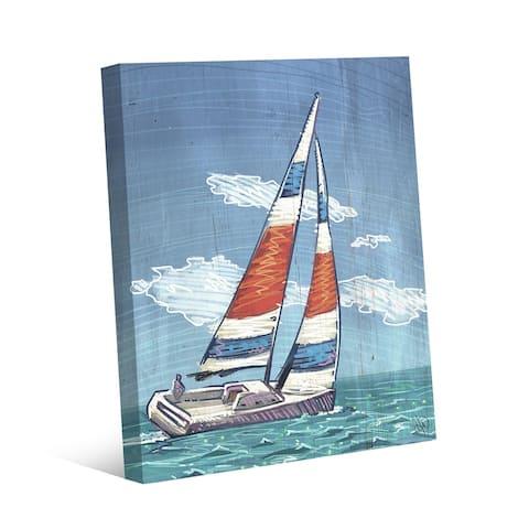 Kathy Ireland Sailing Away to Paradise Sailboat Nautical on Gallery Wrapped Canvas Wall Art Print