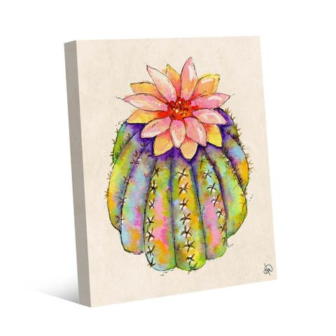 Kathy Ireland Lush Colorful Cactus Abstract on Gallery Wrapped Canvas Wall Art Print