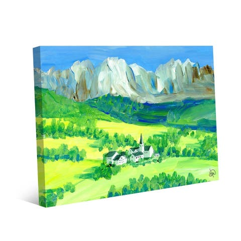 Kathy Ireland Swiss Alps in the Springtime on Gallery Wrapped Canvas Wall Art Print