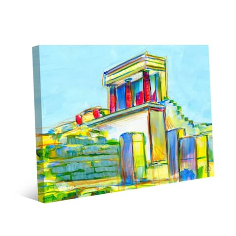 Kathy Ireland The Ruins of the Palace at Knossos, Greece in Yellow on Gallery Wrapped Canvas Wall Art Print