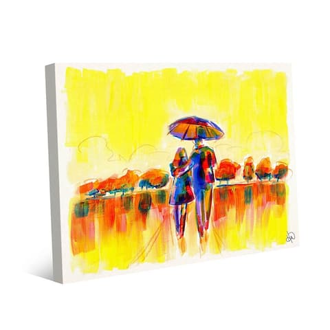 Kathy Ireland Perfect Bright & Sunny Morning Abstract on Gallery Wrapped Canvas Wall Art Print
