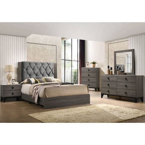 Best Quality Furniture Madelyn 4-Piece Bedroom Set with Extra Chest