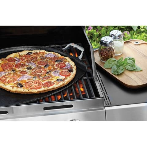 Outset 76612 Cast Iron 14-Inch Pizza Iron