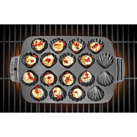 Outset 76377 Cast Iron Scallop Grill Pan
