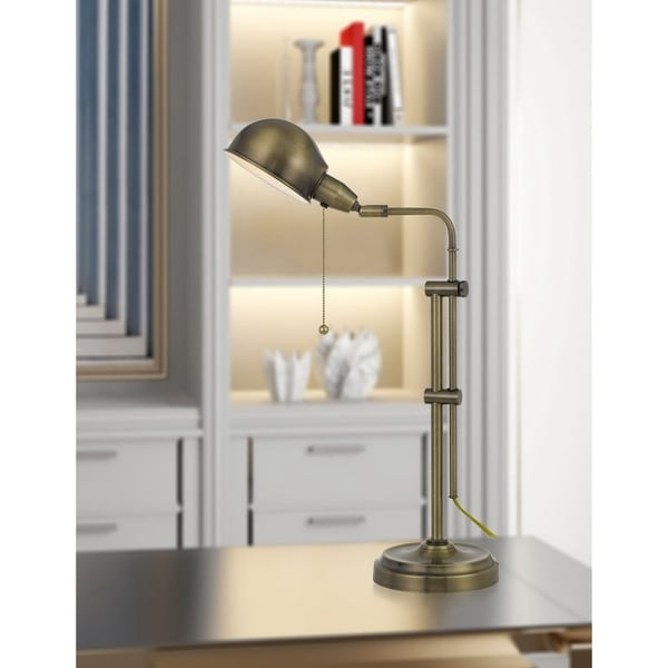 Croby Pharmacy Desk Lamp in Antique Brass. Opens flyout.
