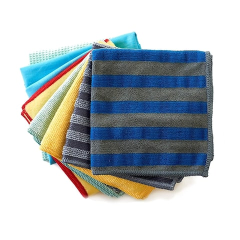 E-Cloth HomeCleaning Set,Chemical-Free Cleaning w/Just Water 8ClothSet