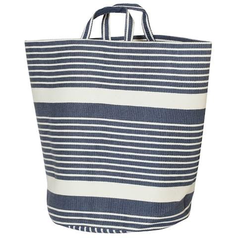 Creative Bath Multi Stripe Fabric Hamper - 19.7