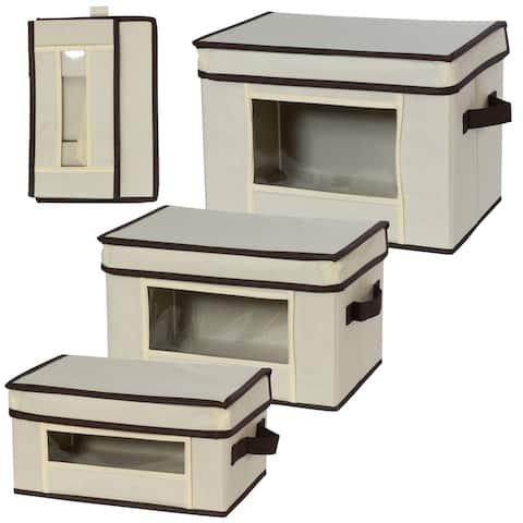 Creative Bath Essentials Canvas Storage Boxes - 3 Piece