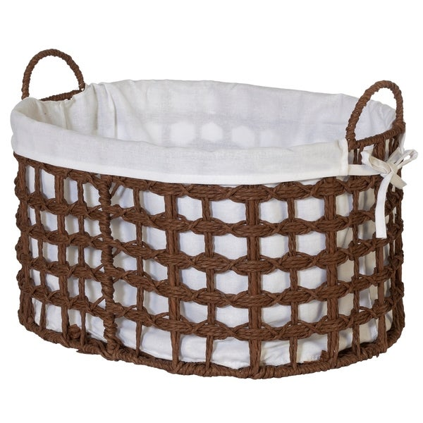 Creative Bath Essentials Woven Paper Cord Baskets. Opens flyout.