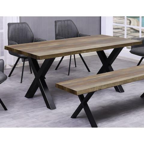 Best Master Furniture 71 Inch Rustic Natural Rectangular Dining Table - Rustic Natural