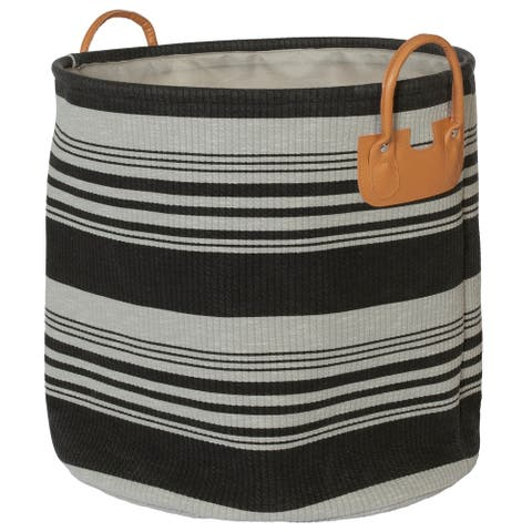 Creative Bath Striped Collection Hampers with PVC Handles