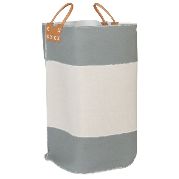 Creative Bath Striped Collection Color Block Fabric Hamper. Opens flyout.