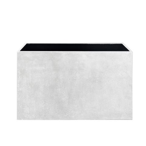 Metal Planter Box - White