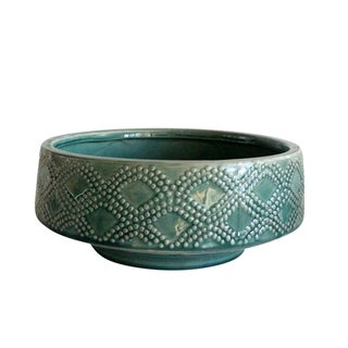 """Link to Ceramic 11"""" Dotted Bowl Planter, Green Similar Items in Planters, Hangers & Stands"""
