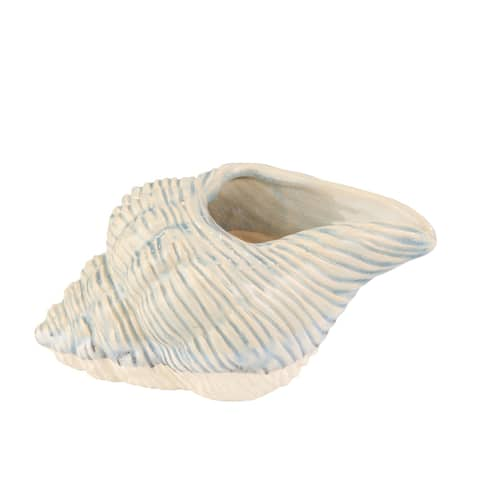 "Ceramic 11"" Seashell Planter,Lt Blue"