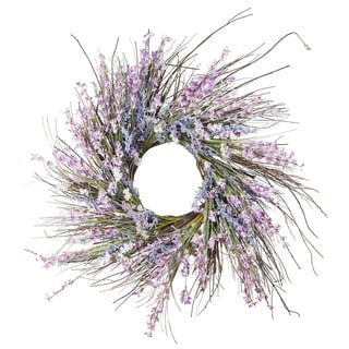 "Link to Enova Home 24"" Mixed Spring Artificial Flower Wreath Similar Items in Decorative Accessories"