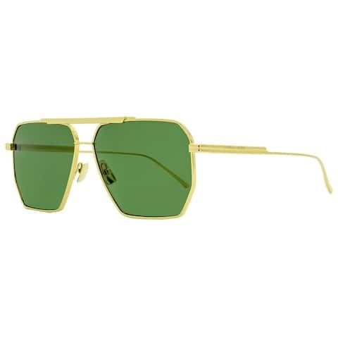 Bottega Veneta BV1012S 004 Mens Gold 60 mm Sunglasses