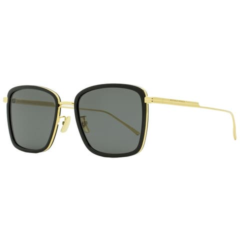 Bottega Veneta BV1008SK 001 Mens Gold/Black 55 mm Sunglasses