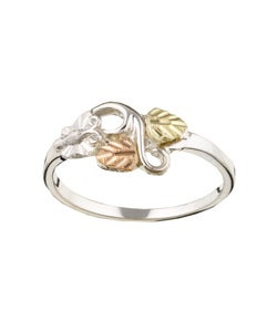 Black Hills Gold and Sterling Silver Butterfly Ring