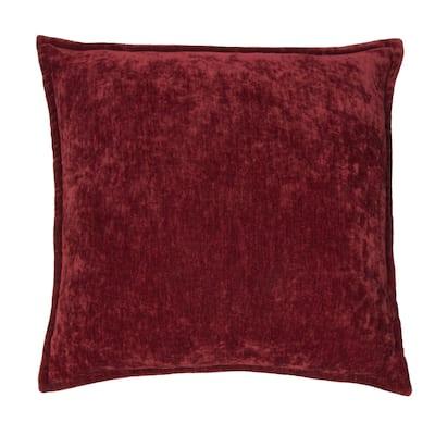 Olivia Quido Cosmopolitan Toile Burgundy Washed Valvet 20-inch Pillow