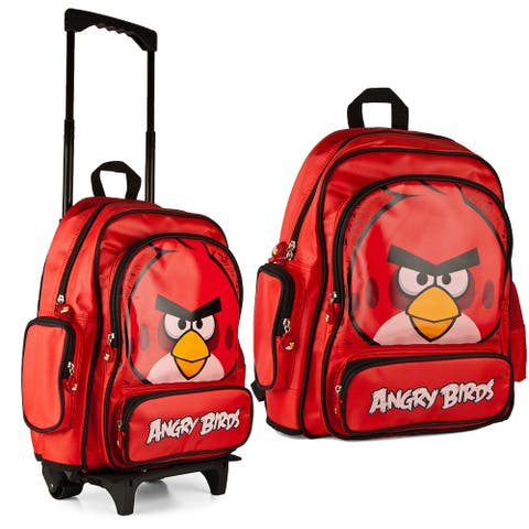 Angry Birds Red Travel School Rolling Bag Backpack Back Pack