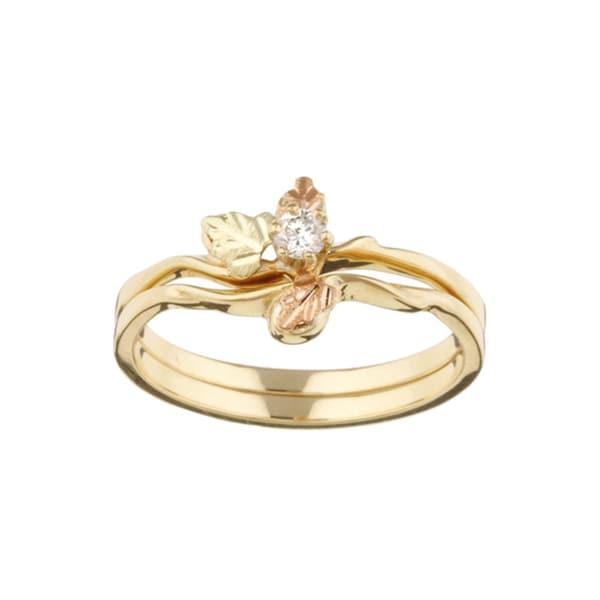 Black Hills Gold 1 10ct Tdw Diamond Wedding Set H I I1 I2