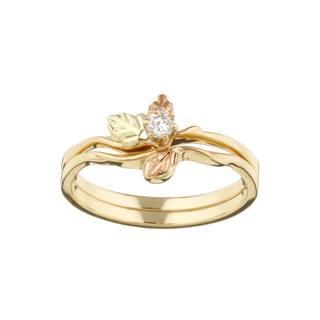 Black Hills Gold 1/10ct TDW Diamond Wedding Set (H-I, I1-I2)|https://ak1.ostkcdn.com/images/products/3096773/P11228977.jpg?impolicy=medium