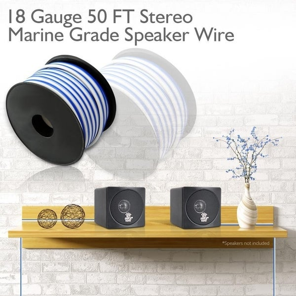 NEW 50 FT 18 GAUGE SPEAKER WIRE AUDIO CABLE CAR HOME