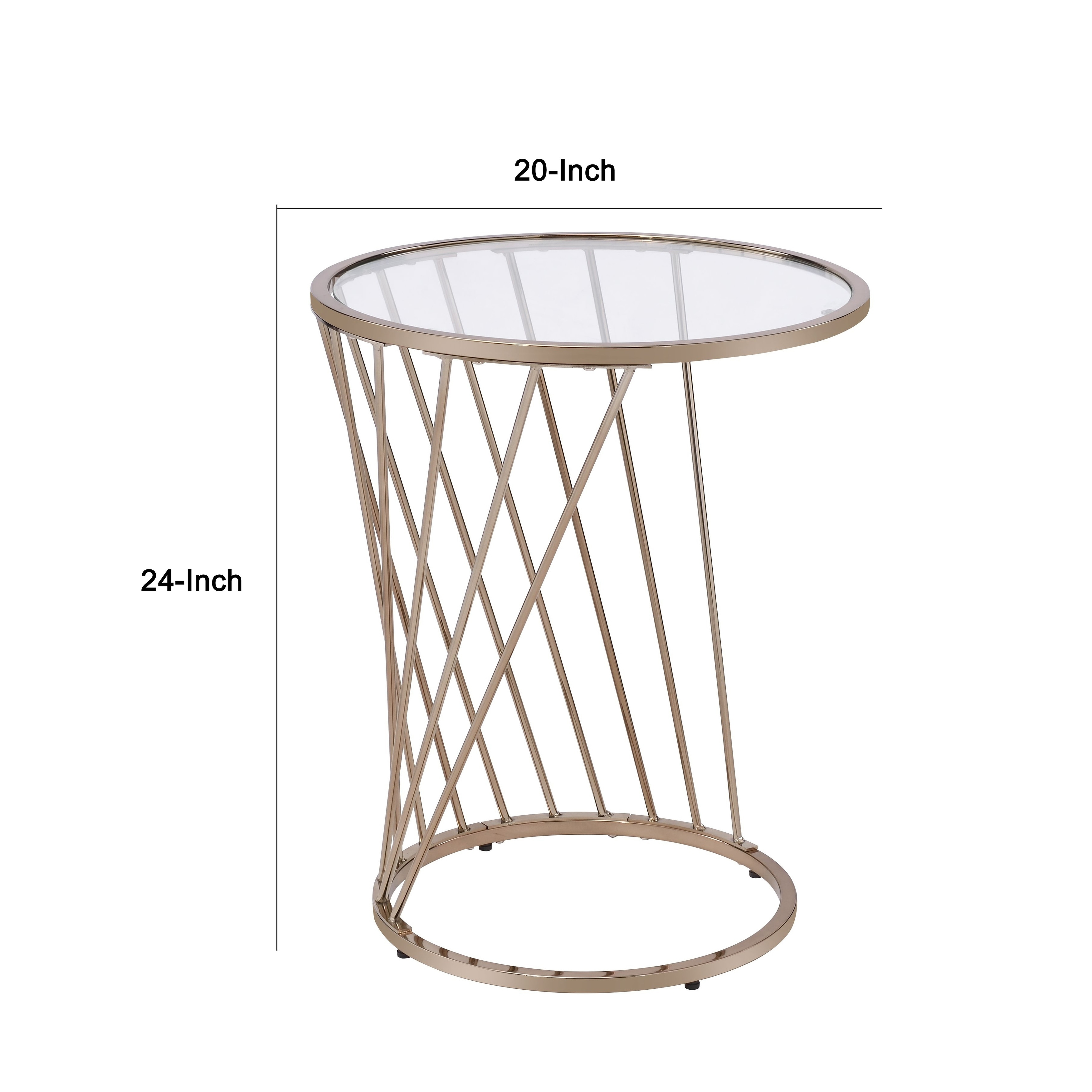 Table With Twisted Metal Base And Round