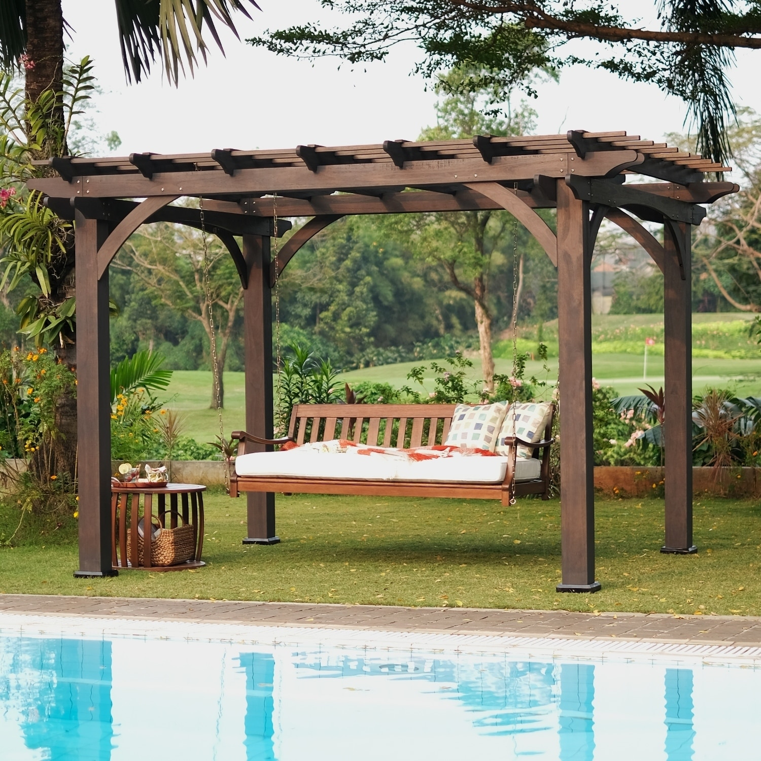 Cambridge Casual Como Outdoor Swing Daybed With Cushion Overstock 30968372