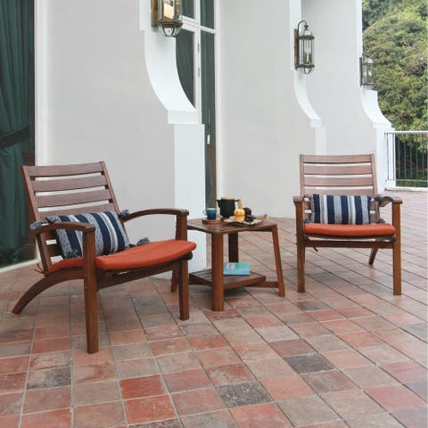 Cambridge Casual West Lake 3-piece Outdoor Chat Set with Cushion