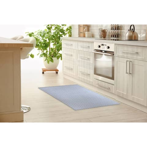 SERENE GINGHAM DREAM Kitchen Mat By Kavka Designs