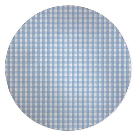 BLUE GINGHAM DREAM Area Rug by Kavka Designs