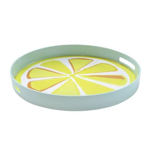 Trina Turk Lemon Slice Round Tray
