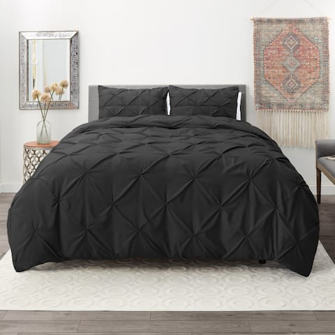 Nestl Bedding Pinch Pleat Duvet Cover Set