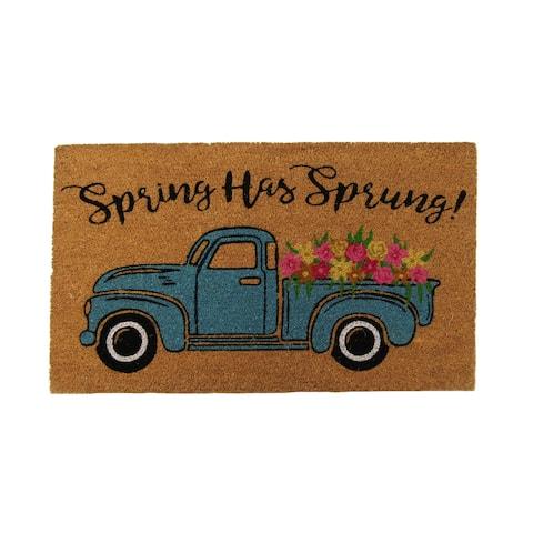 Farmhouse Living Spring Has Sprung Farm Truck Coir Doormat