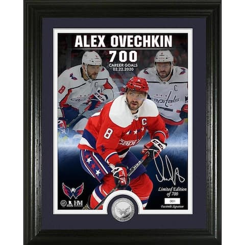 "Alexander Ovechkin ""700th Goal"" Commemorative Photo Mint"